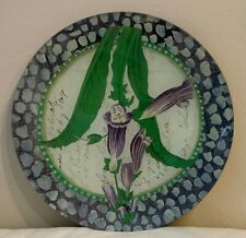John Derian Decoupage Glass Signed Foral Plate