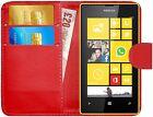 Housse Etui Coque Portefeuille Simili Cuir Pour Nokia Lumia 520 + Film + Stylet