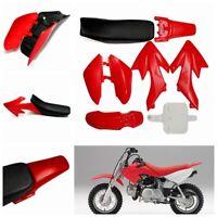 50cc 110cc 125cc 140cc Plastic 4-Stroke CRF50 Pit Bike Mudguard Seat Fairing Red