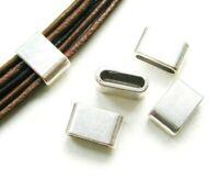 Metallperlen Schiebeperle Diacharme 8x12,5mm für Bänder 5 Stück SERAJOS