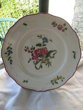 Assiette décorative vintage Vieux Saint Amand, décor floral, très bon état 25 cm