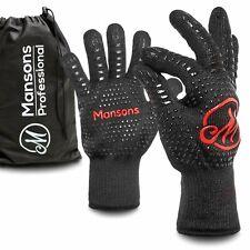 Mansons Grillhandschuhe Hitzebeständig Ofenhandschuhe Backhandschuhe Handschuhe