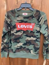 Levi's Big Boys Camo Print French Terry Pullover Sweatshirt Size Medium New