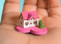 Dollhouse Miniature Valentine's Day Pink House  Home Decor for 1:12 scale