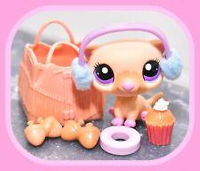 ❤️Authentic Littlest Pet Shop LPS #2230 Cream Tan SEA OTTER Pink Purple Eyes❤️