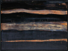 Gerhard Elsner 1930-2017 Strandlandschaft Norwegen Ölgemälde Leinwand 60 x 80 cm