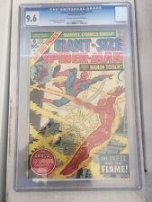 Giant Size Spiderman #6 CGC 9.6 Man-Thing The Lizard Human Torch free shipping