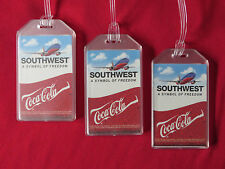 SOUTHWEST AIRLINES COCA COLA LUGGAGE TAGS 3-PACK SET - LUGGAGE NAME TRAVEL ID