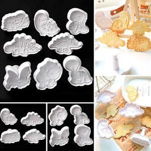 Biscuit Stamp Cookie Cutter Animal Series Embosser Die Plastic Biscuit Mold