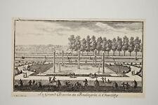 Pierre Joseph Mariette GRAND BASSIN BOULINGRIN CHANTILLY Gravure Eau Forte XVII°