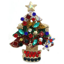 Christmas Tree Colorful Ornament Stretch Resizable Band Holiday Cocktail Ring