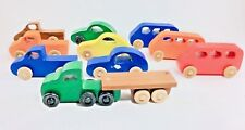 10 pieces handmade wooden toys multi colors