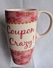 COUPON CRAZY! Tall Tea Coffee Cappuccino Cup Mug 16 oz capacity Mothers Day Gift