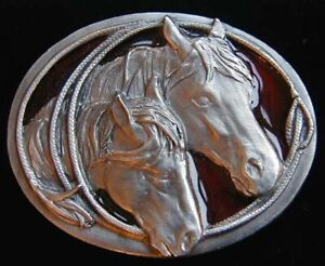 SMALL SIZE MARE AND COLT WITH LASSO BELT BUCKLE CHILDRENS NEW!