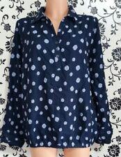 Gina Benotti Damen Langarm Bluse Tunika Gr. L/XL Blau 3189a