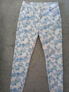 Ladies  Blue Floral Jeggings Size 12