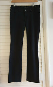 Ann Taylor Black Stretch Jeans Jeggings Trousers Size UK 6 Stretchy Curvy fit VG
