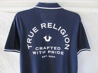 True Religion Crafted with Pride S/S Polo Shirt- True Navy -Men's Medium-NWT $79