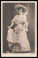 Edwardian 1910s original vintage photo postcard lady big hat Miss Marie Studholm