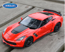 Welly 1:24 2017 Chevrolet Corvette Z06 Diecast Model Sports Racing Car Red