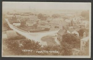 Postcard Tetney near Grimsby Lincolnshire houses From The Tower posted 1908 RP