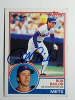 1983 Topps Bob Bailor Auto Autograph Card Mets Blue Jays Orioles Signed #343
