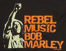 BOB MARLEY T-shirt Reggae Rasta ZION ROOTSWEAR Tuff Gong Tee Adult 2XL Brown New