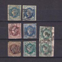 SPAIN 1862, Sc# 55-60, CV $81, Used