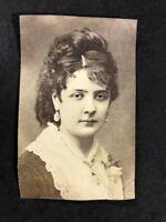 Victorian Carte De Visite CDV: Mystery Female Actress