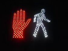 Lot of 2 GE Ecoloux Pedestrian LED Traffic Signals P11PAC-6S - Stop Hand/Go Man