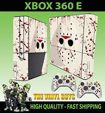 XBOX 360 E Jason Voorhees Máscara Bloody Pegatina carcasa & 2 Mando Pad PIEL