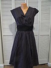 NWT Defect Folter Greta Dress Black Polka Dot 50's Style Pin-Up Sz L Rockabilly