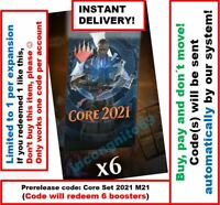 MAGIC MTG Arena Code: 6 Boosters. Core Set 2021 M21 Prerelease INSTANT EMAIL