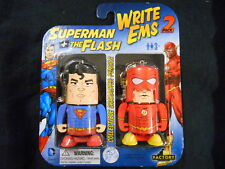 "DC scrivere EMS ""Superman + Flash"" collectible carattere MATITE 2-Pack!"