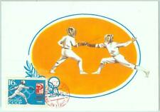 86507 - Russia  - Postal History - MAXIMUM CARD - OLYMPIC GAMES Fencing 1965
