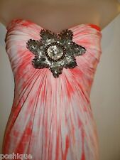 Sky Brand Clothing XS Maxi Dress Pink White Tie-Dye Sequin Rhinestones Studded