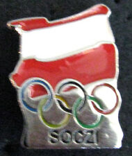 SOCHI 2014 Olympic POLAND team DELEGATION flag DATED pin very rare