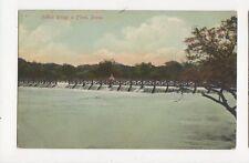 Holkar Bridge In Flood Poona India Vintage Postcard 184a