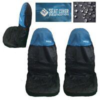 2 Blue Waterproof Nylon Car Seat Covers For Ford KA Focus Kuga Mondeo Fiesta