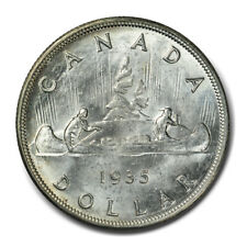 1935 $1 Dollar Canada Silver Uncirculated MS