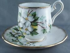 Royal Albert White Dogwood Demi Demitasse Cup & Saucer (Two Available)