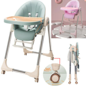 5in1 Foldable Baby Highchair Infant Adjustable Feeding Seat Toddler Table Chair