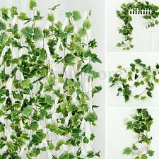 7.5FT Artificial Garland Plants Ivy Vine LeaFake Foliage Flowers Home Room Decor