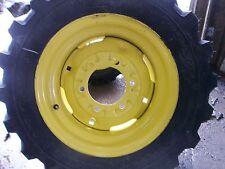 Two 25850x14 Titan Kubota Robertcat Loader Skid Steer Rim Guard Tires Withwheels