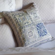 NEW SFERRA Laurana Decorative Pillow Italy Cotton Linen Pink Green Blue Pastels