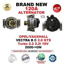 FOR OPEL VAUXHALL VECTRA B C 2.0 GTS Turbo 2.2 2.2i 16V 2000-ON 120A ALTERNATOR
