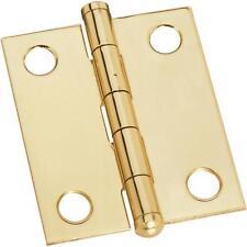 "25 Pk Solid Brass 1 1/4"" W X 1 1/2"" W Jewelry Box Ball Tip Hinge 2/Pk N261750"