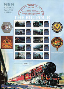 The Big Four - National Railway Museum Smilers Sheet - Limited Edition - MNH.