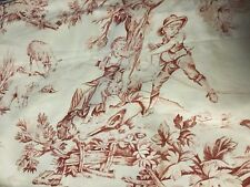 FABULOUS COUNTRY CURTAINS FRENCH COUNTRY TOILE WINDOW VLAANCES,ROSE&WHITE