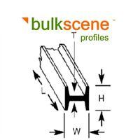 BULKSCENE - H COLUMNS GIRDERS PLASTIC PROFILES FOR OO/HO MODELLING - BULK PACKS